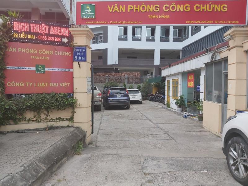văn phòng công chứng uy tín nhất tại quận Ba Đình